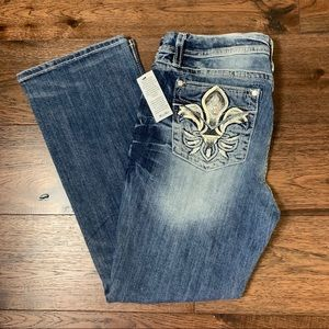 NWT Miss Me Mid Rise Easy Boot Cut Jeans